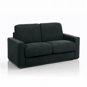 Canapé Tissu Noir : canap convertible 3 places tissu d houssable noir maison et styles ~ Teatrodelosmanantiales.com Idées de Décoration