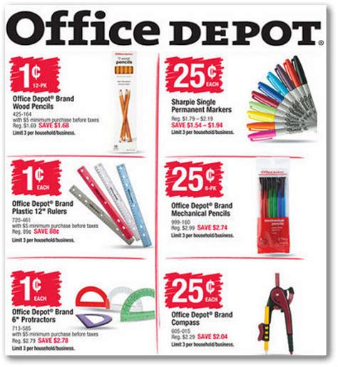Office Depot Coupons July 2015 by Office Depot Back To School Deals For 7 26 8 1