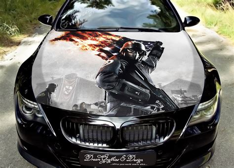 Soldier Hood Full Color Graphics Wrap Decal Vinyl Sticker