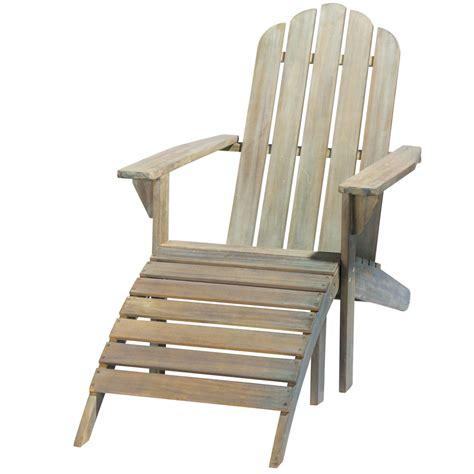 chaise de jardin en bois chaise longue en acacia grisée ontario maisons du monde