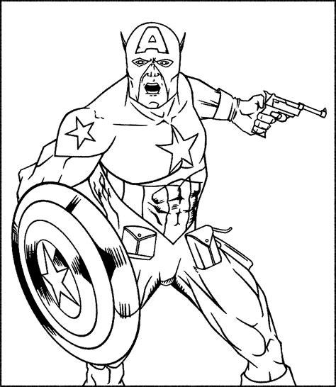 contoh gambar gambar mewarnai captain america