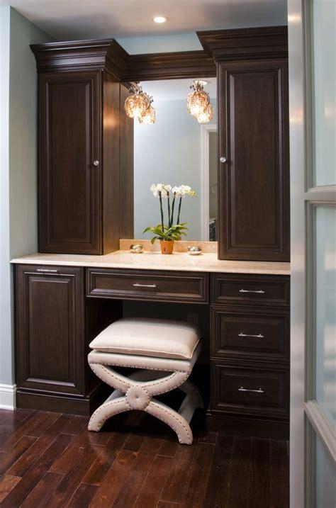 Bathroom Vanity With Built In Makeup Area by 1000 Ideas About Bathroom Makeup Vanities On