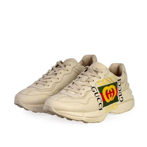 Find gucci rhyton sneakers from a vast selection of men's shoes. GUCCI Leather Logo Rhyton Sneakers White - S: 44 (9.5 ...