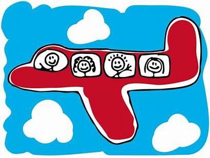 Travel Children Traveling Plane Parent Single Clipart