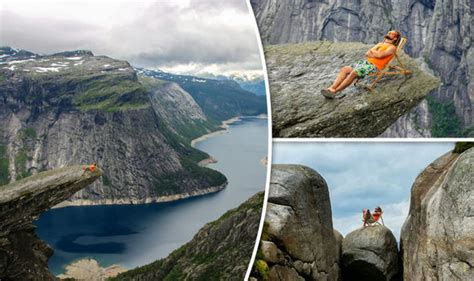 Polish Hiker Pitches Deckchair On Deadly Norway Cliff