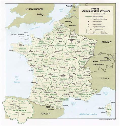 Carte De Region Et Departement Et Chef Lieu by Carte De Administrative D 233 Coup 233 Es En R 233 Gions Et