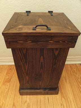 buy  hand crafted rustic wood trash    order