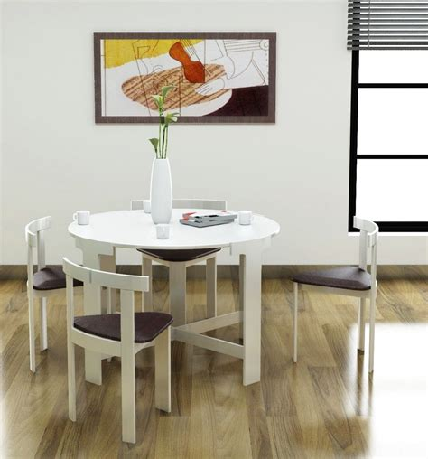 dining table compact tables space saver  chairs set