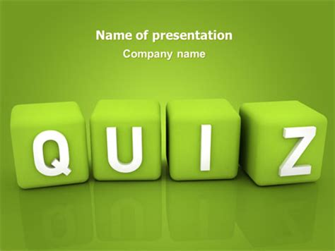 quiz powerpoint template backgrounds