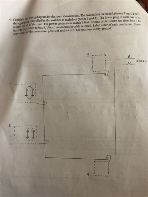 Solved The Wiring Diagram For Room Shown Below