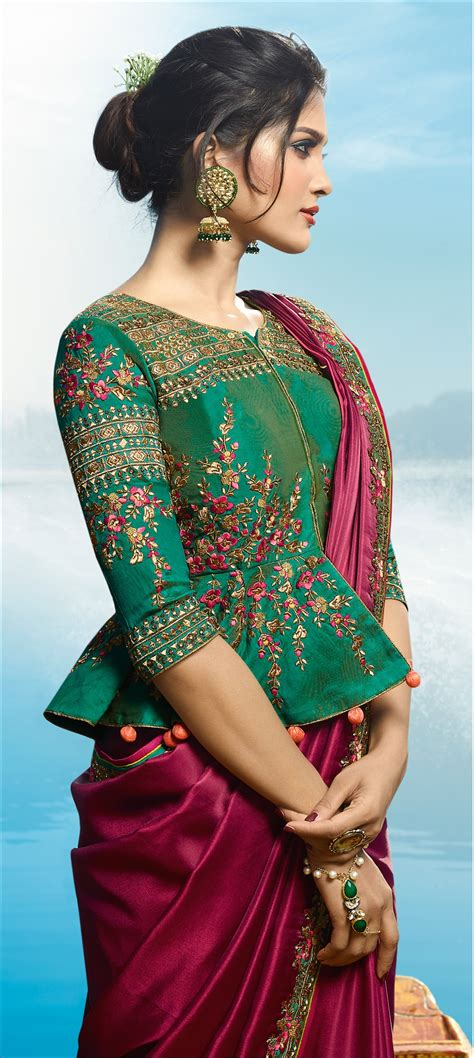 top  silk saree blouse designs patterns silk saree