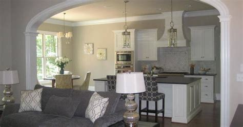 living room kitchen ideas big arch separating kitchen from family room arch