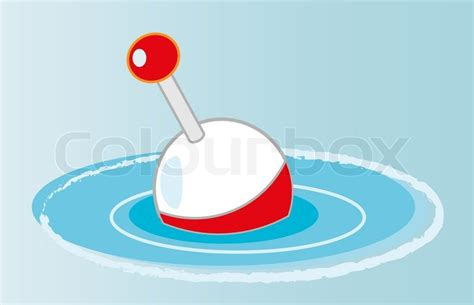 Creative Design Of Fishing Float. Fully Editable Vector