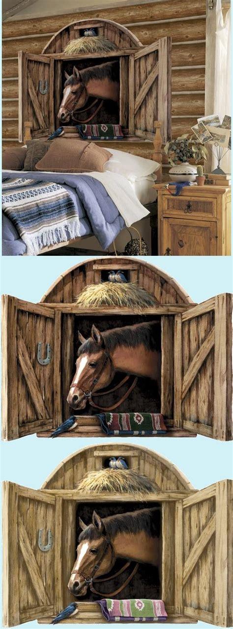 horse stable door peel  stick mural   colors