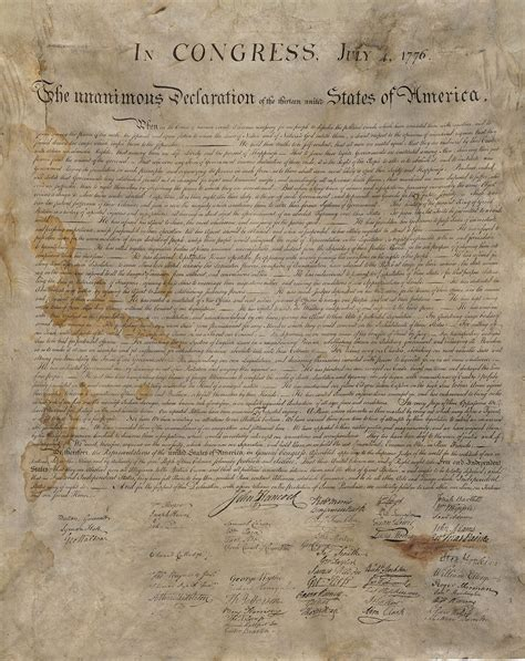 rare copy   declaration  independence survived