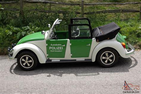 1985 Classic Vw 4-door Beetle Cabriolet Polizei