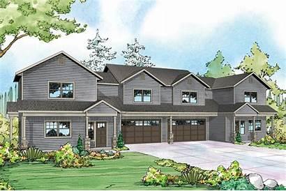 Duplex Country Plan Plans Warrendale Garage Multi