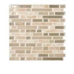 smart tiles bellagio sabbia 10 00 in x 10 06 in peel and stick mosaic decorative wall tile