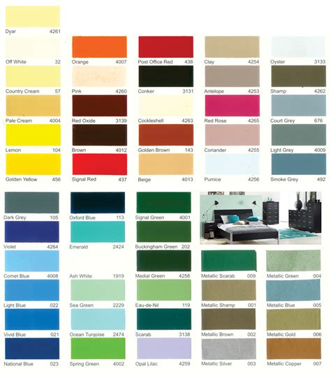 no 1 national synthetic enamel shade card no 1 national and tower paints