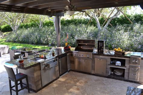 Backyard Grill South by Outdoor Kitchen And Pergola Project In South Florida