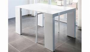 Table Laquee Blanc : table console extensible glory 3 allonges laquee blanc ~ Premium-room.com Idées de Décoration