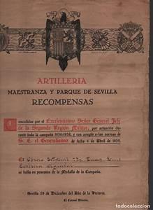 Sevilla  Artilleria--recompensas--medalla De Ca