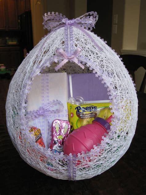 egg shaped easter basket  string toys