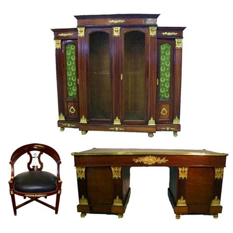 bedroom set with matching desk magnificent antique 19th c three piece french empire
