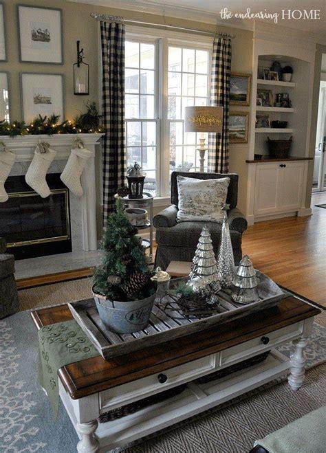 nature inspired christmas decor   family room