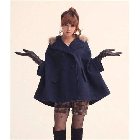winter capes for winter fashion s batwing cape trench coat fur poncho coat