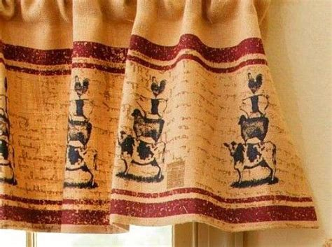 Primitive Country Farmhouse Chic Burlap Cow Pig Sheep Chicken Curtain Valance King Size Duvet Sets With Matching Curtains Gray Printed Country Looking 54 X 84 Where To Buy Grommets For Victorian Window Frilly Shower Curtain Bathroom Patterns