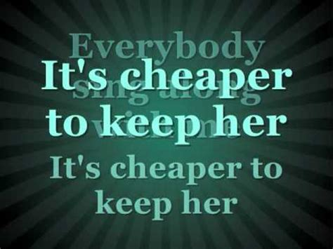 Cheaper To Keep Her Lyrics Johnnie Taylor Youtube