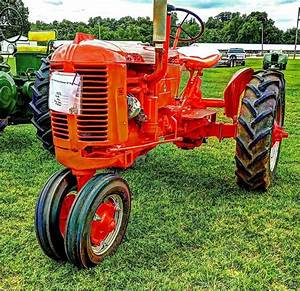 Old Photo  Red 1952 Case Vac Tractor