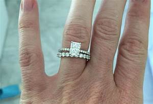 mismatched bands infinity band radiant cut solitaire With mismatched wedding bands and engagement rings