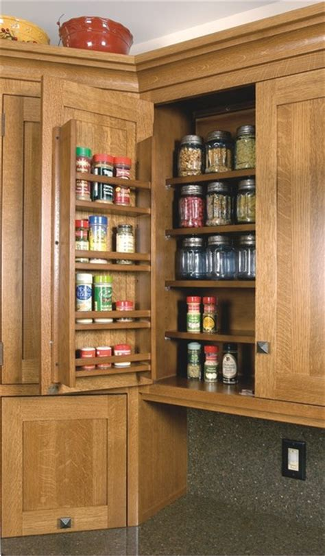 Kitchen Spice Racks For Cabinets by Spice Rack On Wall Cabinet Door Craftsman Kitchen