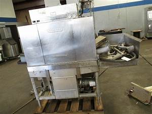 Hobart Stainless Steel Commercial Dish Washer Pass Through Side Load