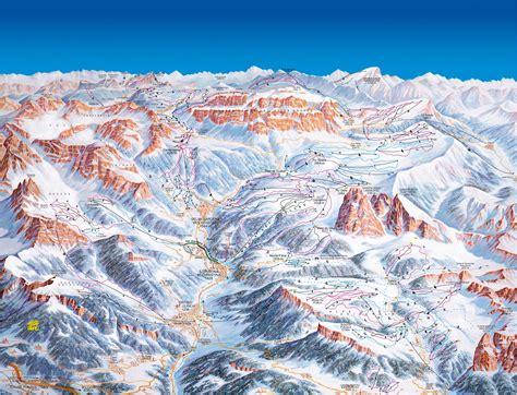 val gardena alpe  siusi ski map dolomiti superski