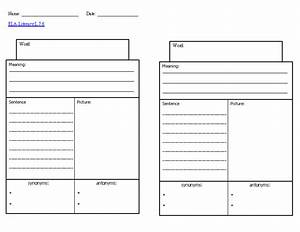 11 best images of vocabulary worksheet template 4th With blank vocabulary worksheet template