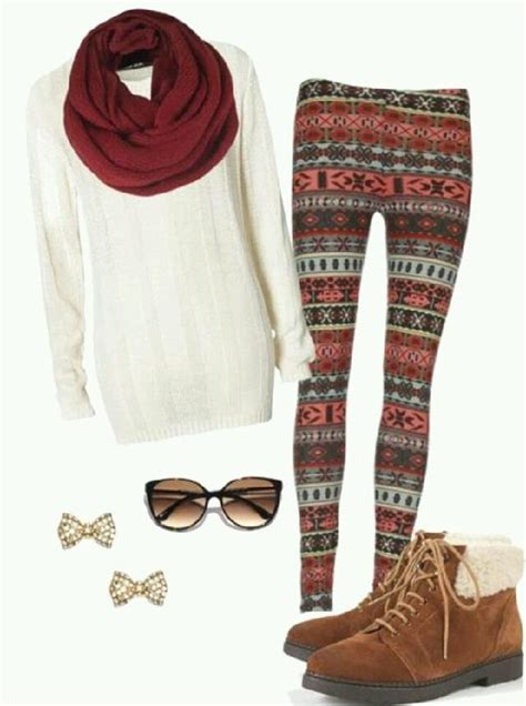 Comfortable winter outfit with patterned leggings | fall/winter outfits | Pinterest | How to ...