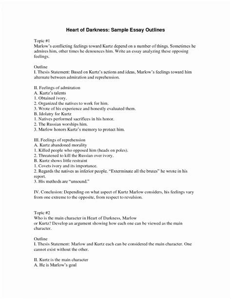 How To Write An Essay Outline Format Sample Template