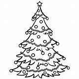 Tree Coloring Christmas Pages Chrismas Trees Printable Drawing Santa Clip Holiday Clipart Google sketch template