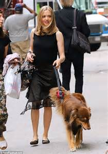 Amanda Seyfried looks chic in black ensemble as she takes ...