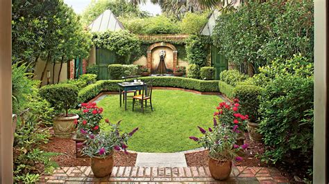 elegant georgia courtyard garden southern living