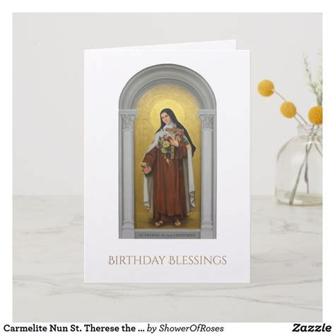 Carmelite Nun St Therese the Little Flower Card Zazzle