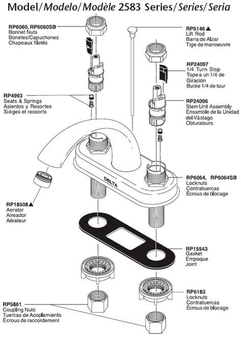 Delta Bathroom Sink Faucet Parts by 42 Delta Sink Parts Plumbingwarehousecom Delta Bathroom
