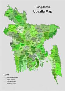 Upazila Map Of Bangladesh