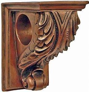 corbel drapery curtain rod holder set of two decorative With decorative curtain rod holders