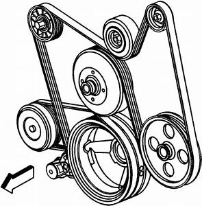 Trailblazer Serpentine Belt Diagram  Solved