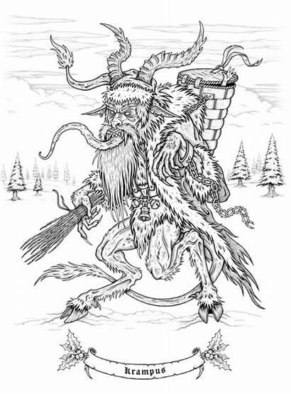 Krampus Creepy Christmas Coloring Macabre Sam Comic