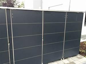 Mülltonnenbox Holz Anthrazit : m lltonnenbox m llbox aus metall oder edelstahl ~ Whattoseeinmadrid.com Haus und Dekorationen